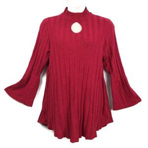 Style&co 2X Red Cut Out Sweater Tunic Top